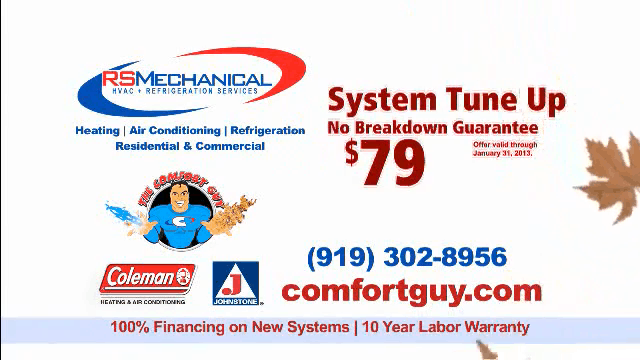 Heating Tune Up from the Comfort Guy of RS Mechanical