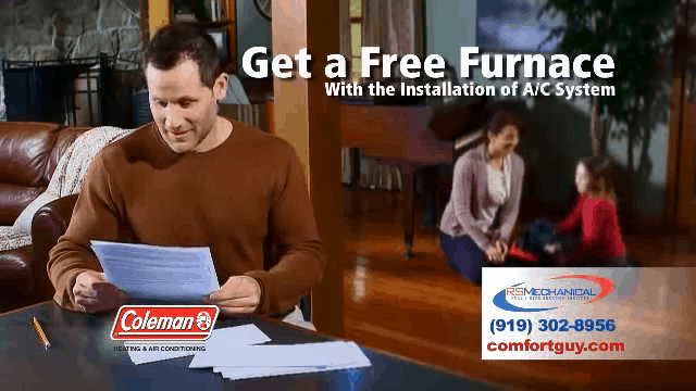 Free Furnace from RS Mechanical of Raleigh NC